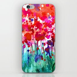 A Walk Among The Flowers No.7a by Kathy Morton Stanion iPhone Skin