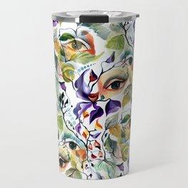 Chic Elegant Artistic Pshychedelic Utopian Painted Eyes Travel Mug