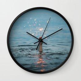 Water Firefwork Wall Clock