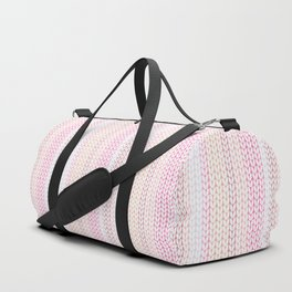 Knitted pattern in pastel colours.2 Duffle Bag