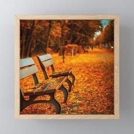 Autumn Walk Framed Mini Art Print