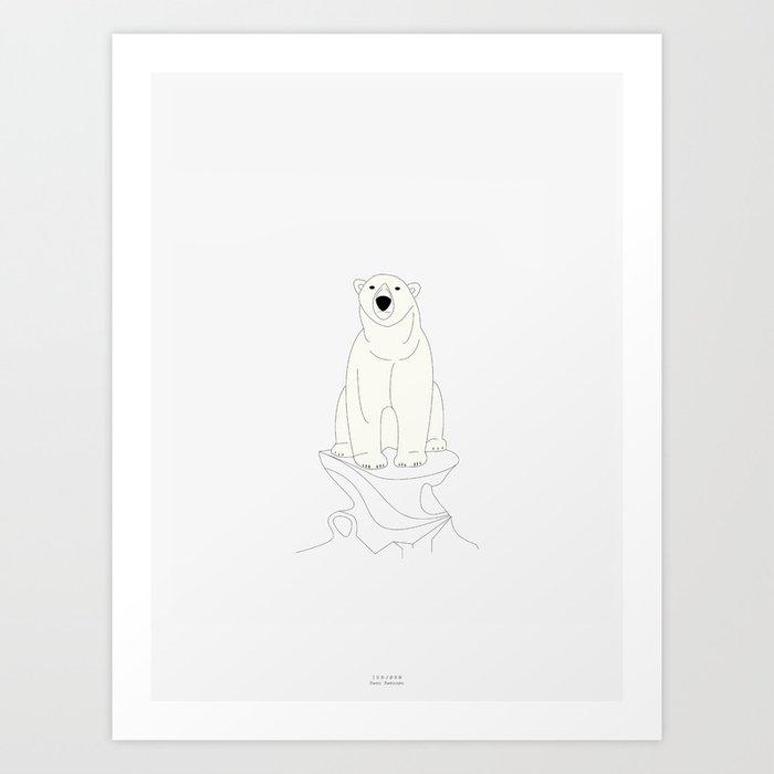ISBJØRN Art Print
