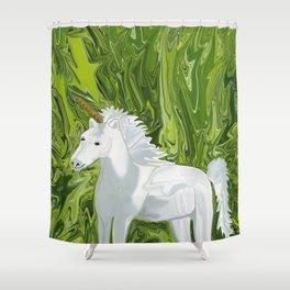 Herron's Horn Shower Curtain