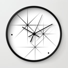 Silent Explosions Wall Clock