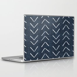 Mud Cloth Big Arrows in Navy Laptop & iPad Skin