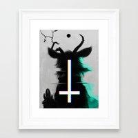 cross Framed Art Prints featuring cross by s a Lieske