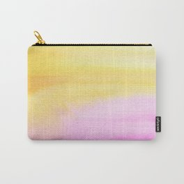 Pink and Yellow Wash Carry-All Pouch