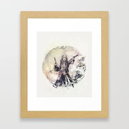 Jack Sparrow with double pistols Framed Art Print