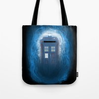Through the Time Stream Tote Bag