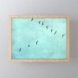 GEESE FLYING Framed Mini Art Print