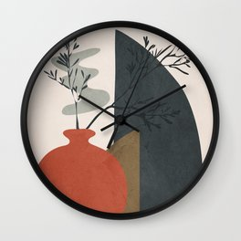 Abstract Elements 12 Wall Clock
