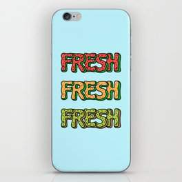 Fresh Watermelon, Cantaloupe Melon, Kiwi iPhone Skin