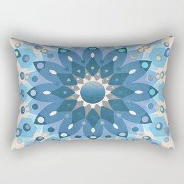 Frozen Mandala Flower Rectangular Pillow