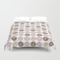 doughnut Duvet Covers featuring Doughnut Ornaments by stylishbunny