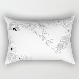 Catrina colorless Rectangular Pillow