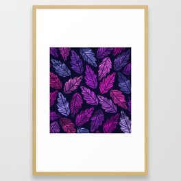 Colorful leaves III Framed Art Print