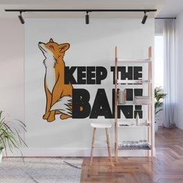 Keep the Ban! Anti Fox Hunting Illustration Wall Mural