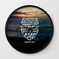 shield Wall Clocks featuring SHIELD by Pocket Fuel