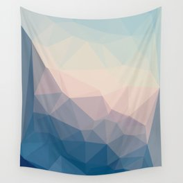 BE WITH ME - TRIANGLES ABSTRACT #PINK #BLUE #1 Wall Tapestry