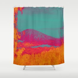 Acid & Energy Landscape Shower Curtain