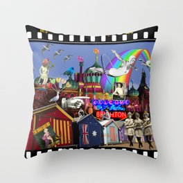 Let's Go to Brighton Throw Pillow