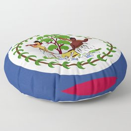 Belize flag emblem Floor Pillow