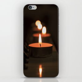 Candles on the piano iPhone Skin