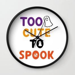 Too Cute To Spook Wall Clock