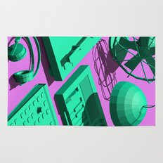 Low Poly Studio Objects 3D Illustration Rug