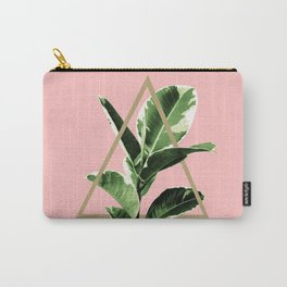Ficus Elastica Geo Finesse #1 #tropical #foliage #decor #art #society6 Carry-All Pouch