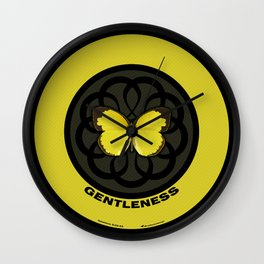 Fruit of the Spirit, Gentleness (Yellow Carbon) Wall Clock