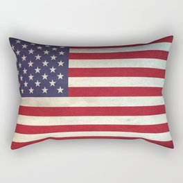 united state of  America Flag - vintage look Rectangular Pillow
