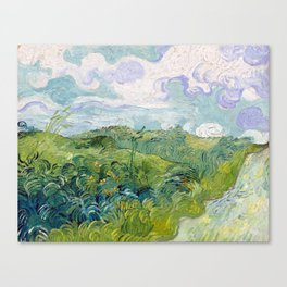 Vincent van Gogh Green Wheat Fields, Auvers Canvas Print