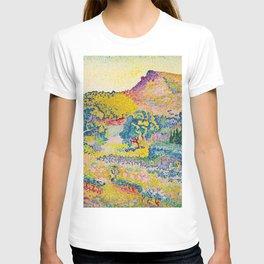 Henri-Edmond Cross Neo-Impressionism Landschaft mit Le Cap Nègre Paysage avec le cap Nègre T-shirt