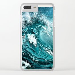 Wave Series Photographic Portrait #2 - Jéanpaul Ferro Clear iPhone Case