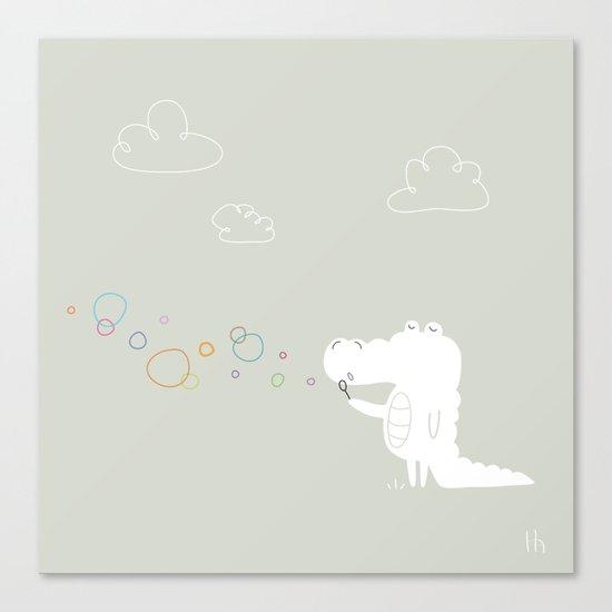 The Happy Bubbles Canvas Print