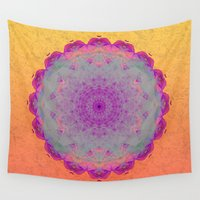 moonrise Wall Tapestries featuring Moonrise by Peta Herbert