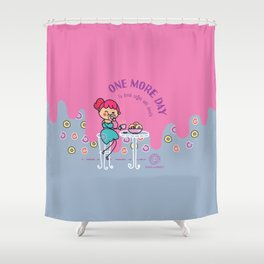 Coffee and donuts Shower Curtain