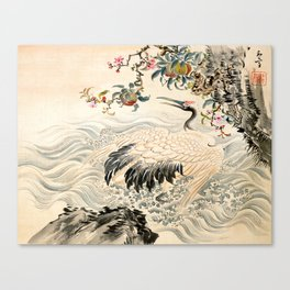 Flowers and Birds Canvas Print