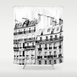 paris rooftops Shower Curtain