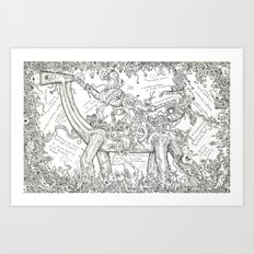 Introduction to the doodle Art Print