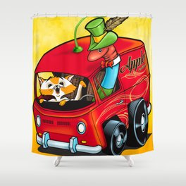 Scary Apple Delivery Shower Curtain