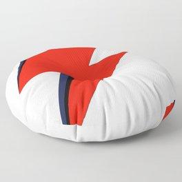 Red Bowie David Lightning Bolt Floor Pillow