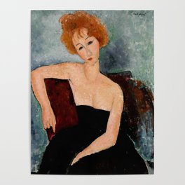 "Amedeo Modigliani ""Redheaded Girl in Evening Dress"" Poster"