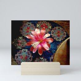 Cactus Flower By Design Mini Art Print