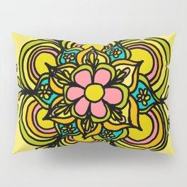 Flower Power Mandala Positive Vibes Flow Freely Pillow Sham