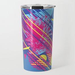 Pineapple with colorful geometric elements retro style design Travel Mug