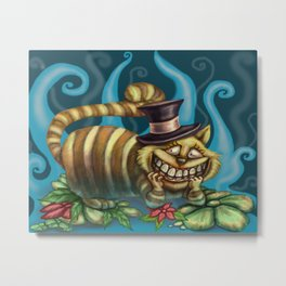 Cheshire Cat, Alice in Wonderland Metal Print