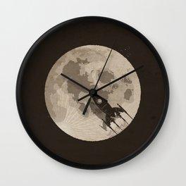 Around the Moon Wall Clock