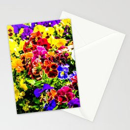 Viola Tricolor Pansy Flowers Stationery Cards